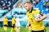 Sebastian Larsson var lagkapten i Sveriges fyra matcher i fotbolls-EM.