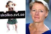 Ulla Hamilton, vd på Friskolornas riksförbund, är upprörd över vad hon menar är spam från SVT.