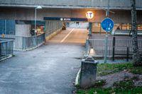 Tunnelbaneuppgången, Kista.
