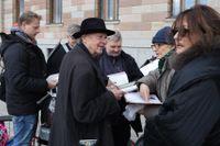 Peter Handke i Stockholm inför Nobelveckan.