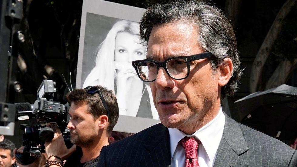 Britney Spears advokat Mathew Rosengart inför en förhandling den 14 juli. Arkivbild.