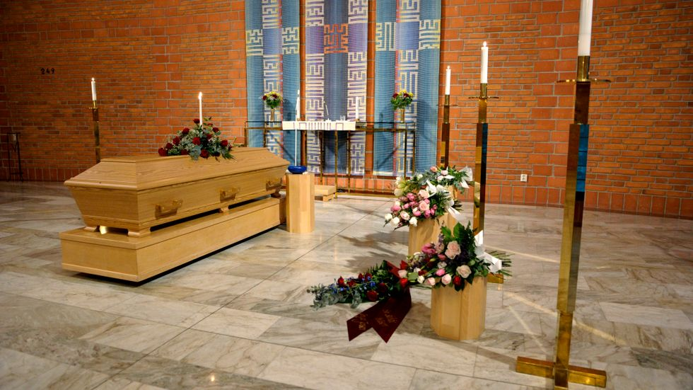 Borgerlig begravning i Ljusets kapell i Luleå.