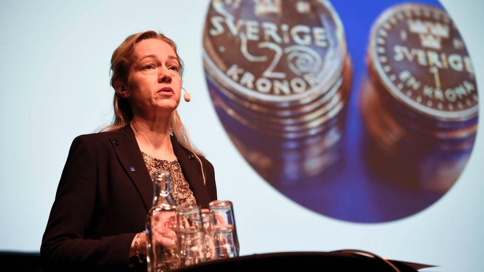 Cecilia Skingsley, vice riksbankschef, är oroad över regeringens aktuella förslag om att minska valutareserven. Arkivbild.