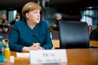 Angela Merkel inför förhöret.