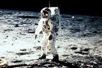 Bild från månlandningen med Apollo 11, 1969.