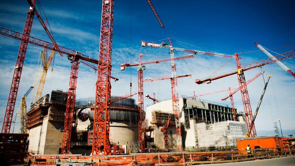 Reaktorbygge i Finland.