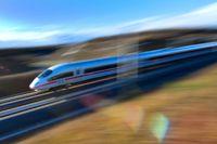 Med höghastighetsbanorna ska man också få en bättre koppling till norra Tyskland. Bilden visar den nya höghastighetsbanan mellan München och Erfurt.
