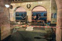 Förödelsen i S:t Petersburgs tunnelbana.