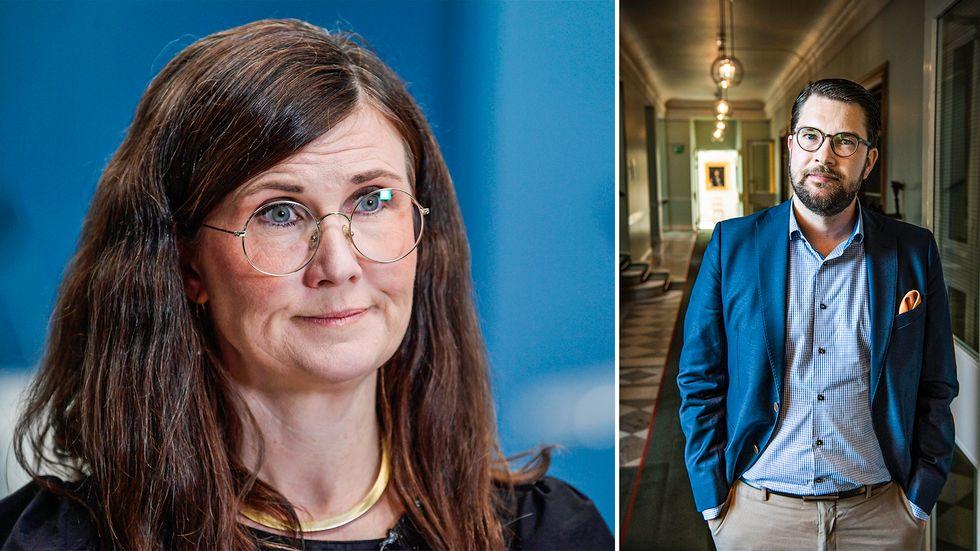 Jimmie Åkesson och Märta Stenevi