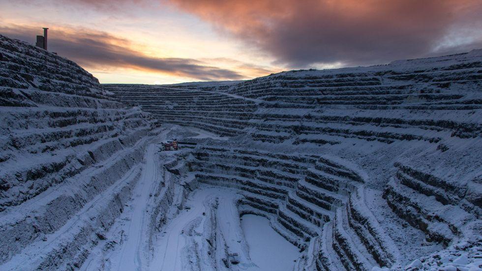 Aitikgruvan, utanför Gällivare i Norrbotten.