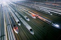 Kina ger grönt ljus för ökade hastigheter för snabbtåg. Arkivbild.