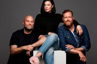 """""""Adam och kompani"""" får en ny medlem och byter namn till """"Kompaniet"""". Daniel Breitholtz, Vanessa Falk och nye medlemmen Kristoffer Appelquist. Pressbild."""
