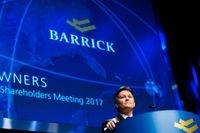 Barrick Gold vill behålla Porgera-gruvan. På bilden talar företagets ordförande Kelvin Dushnisky. Arkivbild.