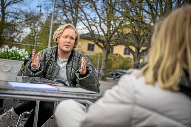 Edvin Törnblom berättar att hans drömgäst i podden är Kim Petras, en tysk artist och transperson. Foto: Ari Luostarinen