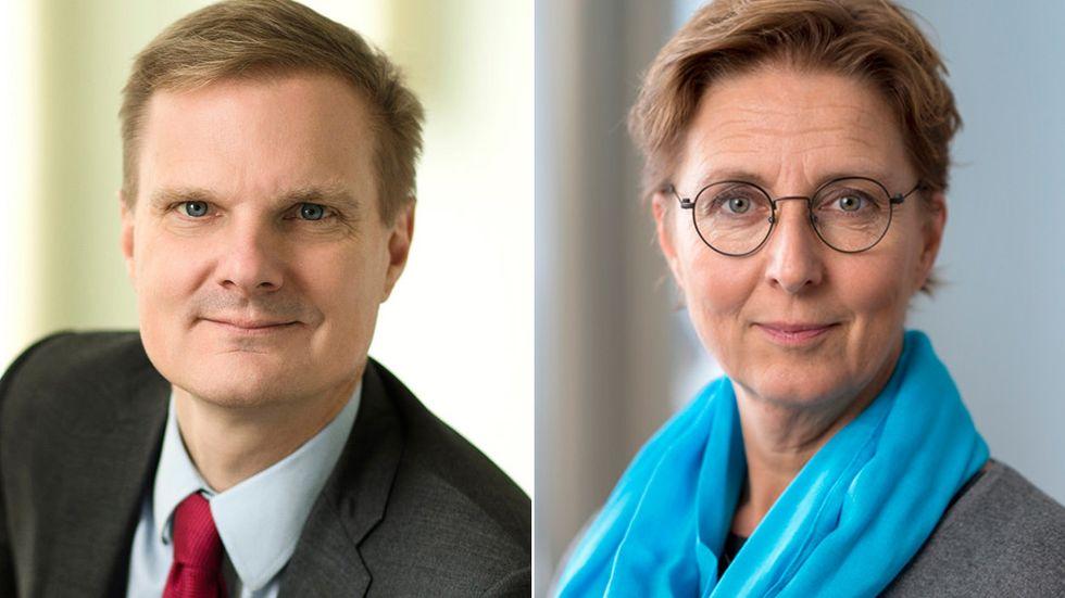 Artikelförfattarna Jens Henriksson och Anna-Karin Laurell.