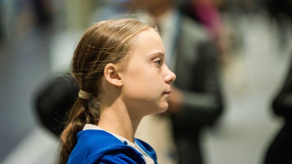 Greta Thunberg lämnade klimatmötet i Madrid med elbil.