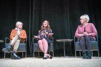 Artisten Robyn, Melinda Gates och utrikesminister Margot Wallström vid onsdagens seminarium.