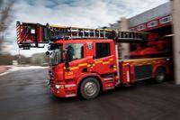 Räddningstjänsten fanns på plats med flera brandbilar. Arkivbild.