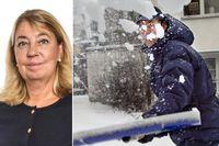 Att ge bort ruttjänster, som snöskottning eller städning, är ett bra sätt att dela ansvaret mellan syskon som har åldriga föräldrar, tycker SvD:s Annika Creutzer.