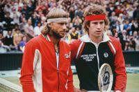 Björn Borg och John McEnroe, 1980.