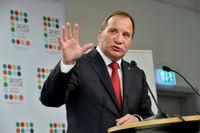 Stefan Löfven på S-kongressen i Västerås.