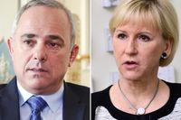 Den israeliska energiministern Yuval Steinitz kritiserar svenska utrikesministern Margot Wallström.