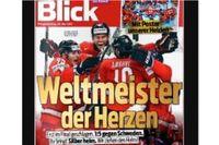 Tidningen Blicks förstasida.