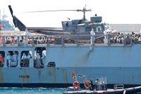 Räddningsfartyget Aquarius, med över 600 migranter ombord som räddats ur Medelhavet utanför Libyens kust, blev snabbt en symbol för EU-ländernas olika inställning i migrationspolitiken. Till slut fick fartyget gå in i en hamn i Valencia, Spanien. Bilden är från 17 juni 2018.