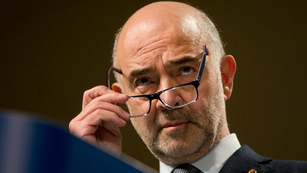 EU:s finanskommissionär Pierre Moscovici. Arkivfoto.
