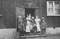 Nödbostäder i Stadshagen 1917.