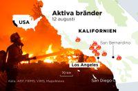 Flera bränder rasar just nu i Kalifornien.