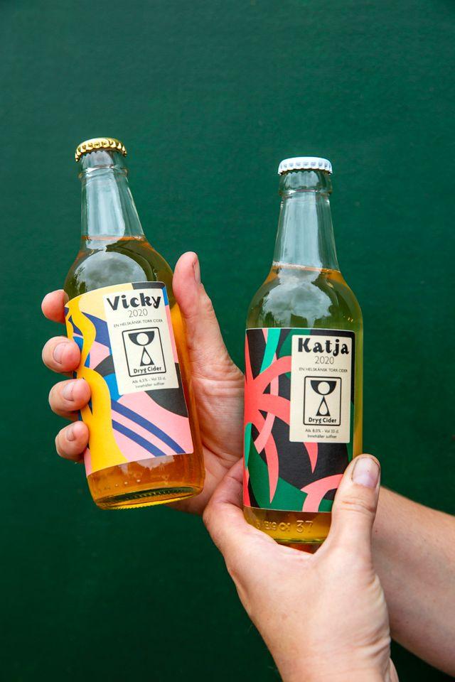 """Cidermakaren Dryg Cider döper sin cider efter något av äpplena som ingår. """"Katja"""" är syrlig, """"Vicky"""" tanninrik och matig."""