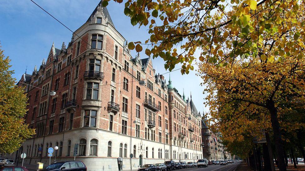 En gata mera känd för sina fashionabla lägenheter.