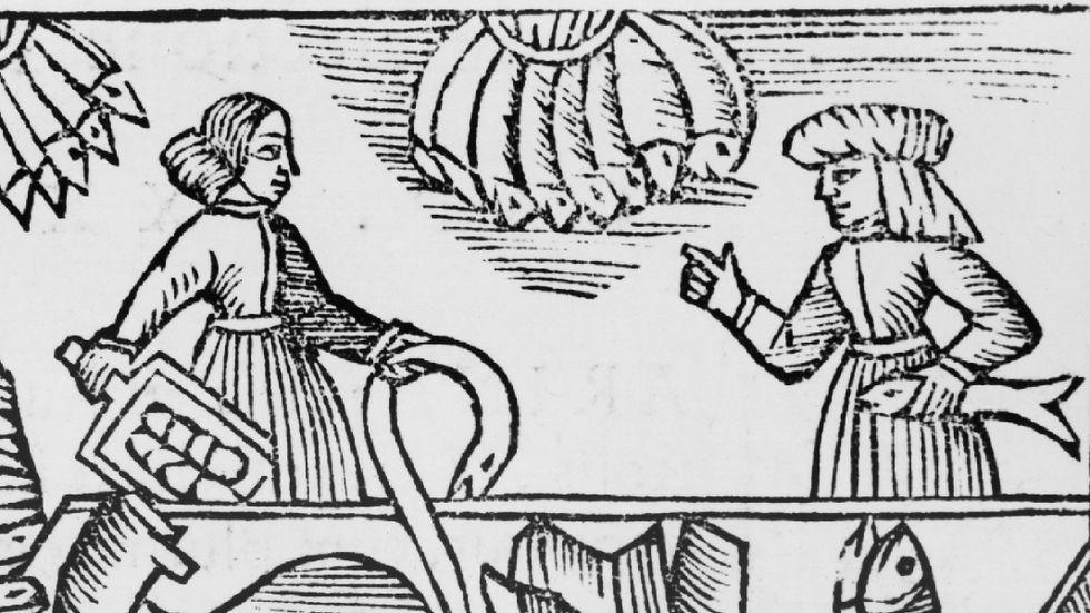 """Illustration ur Olaus Magnus """"Historia om de nordiska folken""""."""