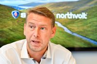 Batteritillverkaren Northvolts vd Peter Carlsson får stöd av tyska Siemens. Arkivbild.