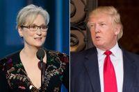 Meryl Streep i nattens gala. I sitt tal gick hon till angrepp mot Donald Trump.