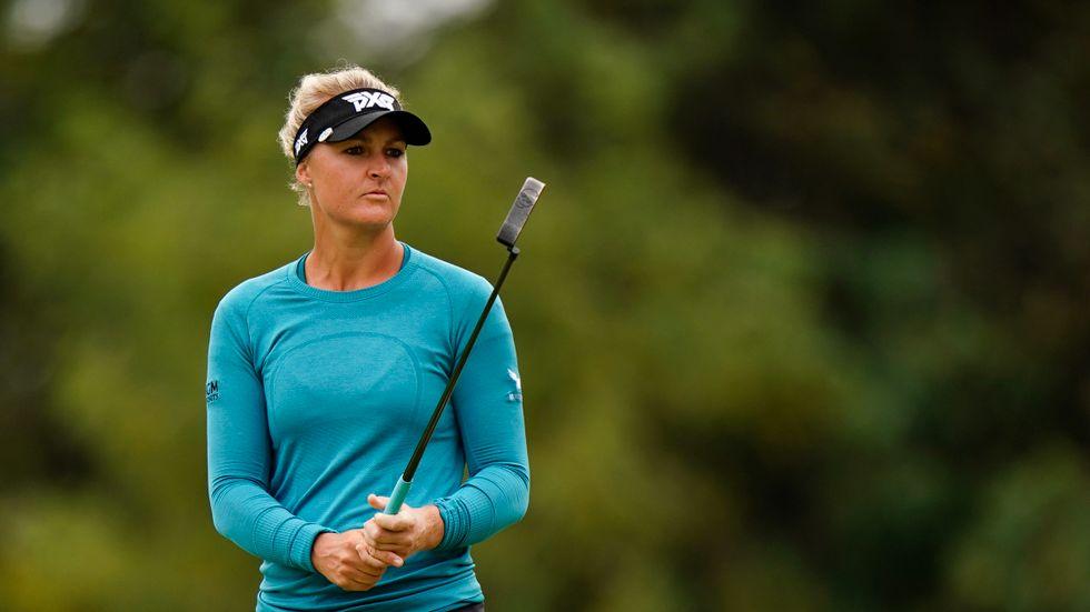 För idrottare med långa tävlingstider blir värmen en större utmaning. Här Anna Nordqvist, golf.