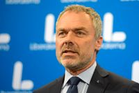 Liberalernas partiledare Jan Björklund för stöd från Skaraborg i partledarstriden. Arkivbild.