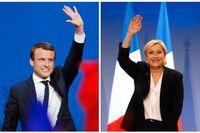 Emmanuel Macron och Marine Le Pen gick vidare till sista valomgången.