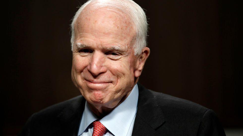John McCain. Bilden är från juli 2017. Arkivbild.