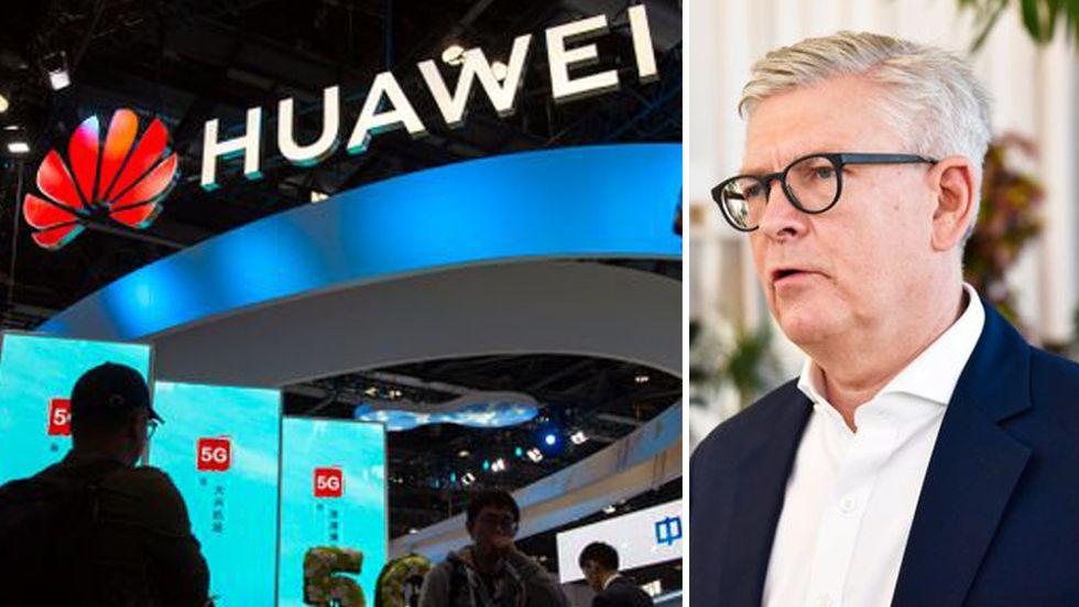 Kina hotar att hämnas på Ericsson, här koncernchefen Börje Ekholm, om inte Huawei tillåts bygga 5G i Sverige, enligt en statsägd kinesisk tidning.