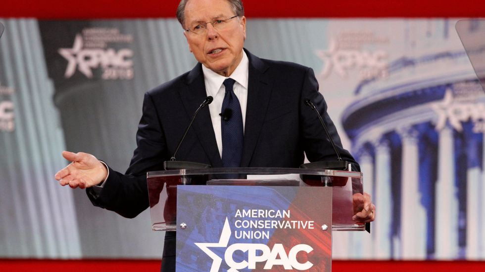 National Rifle Association Executive Vice President and CEO Wayne LaPierre, speaks at the Conservative Political Action Conference (CPAC), at National Harbor, Md., Thursday, Feb. 22, 2018