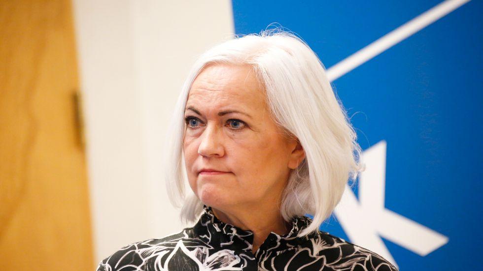 Acko Ankarberg Johansson (KD), ordförande riksdagens socialutskott, ställer tillsammans med utskottet krav på regeringen vad gäller personlig assistans. Arkivbild.