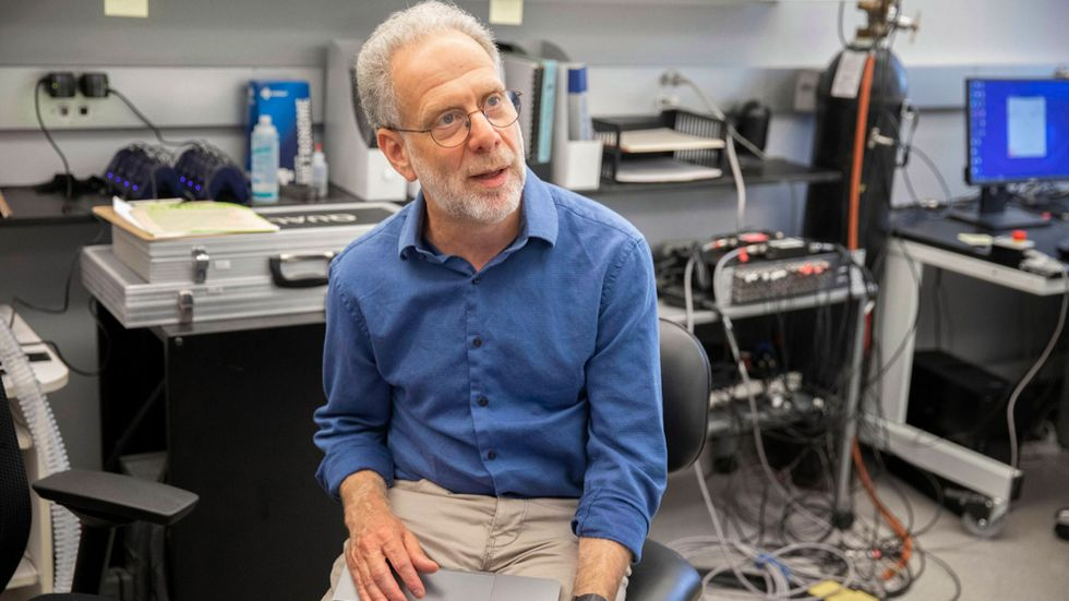 Daniel Lieberman i sitt Harvardlabb.