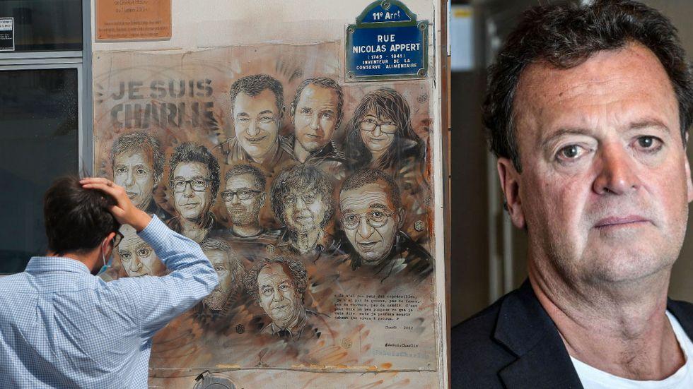 De som mördades på satirtidningen Charlie Hebdo har hedrats på en vägg i Paris. Författaren Fredrik Ekelund/Marisol har läst tidningens nya nummer.