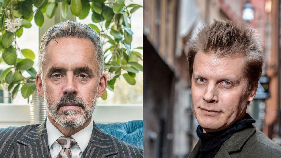 Psykologiprofessorn Jordan B Peterson och filosofen Martin Hägglund.