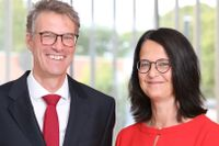 Tysklands nya ambassadörer i Stockholm Joachim Bertele och Christina Beinhoff.