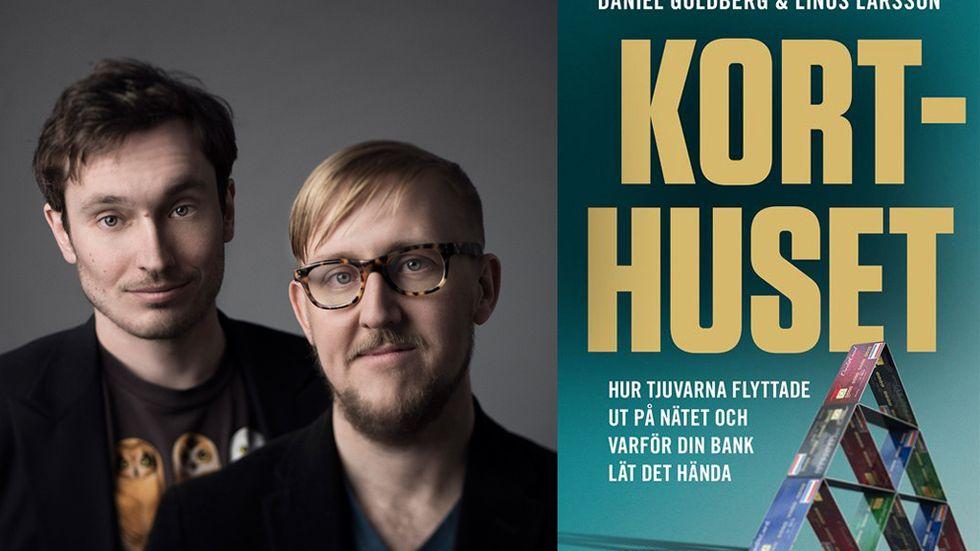 Daniel Goldberg och Linus Larsson, författare till Korthuset.