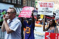 SvD bevakade snabbmatsanställdas strejk i USA förra året.
