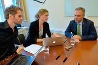 SvD:s Tobias Brandel och Jenny Stiernstedt intervjuar Folkpartiets Jan Björklund.